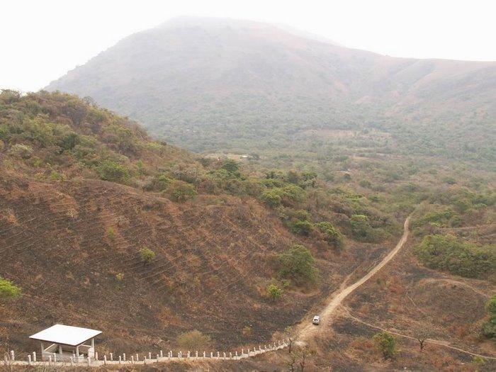 Le flanc du volcan