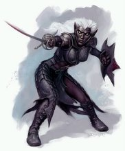 A Drow Dark Elf a creature I' ve sometimes fancied myself to be like