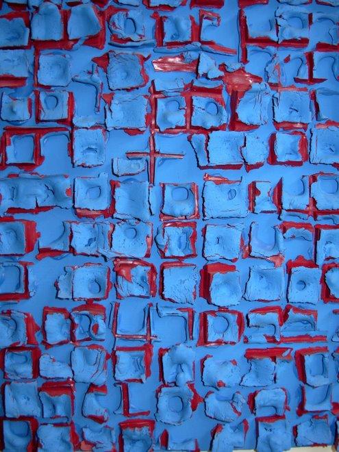 fragments de grille bleu
