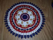 Patriotic Star Doily