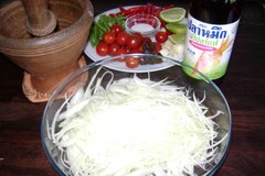 Ingredients of Som Tam