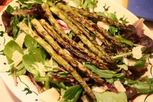 asparagus salad with shaved parmesan and fresh lemon juice