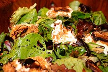 Mixed greens, fig, baked goat cheese croutons, balsamic reduction