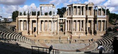 Vista general del teatro romano de Mérida