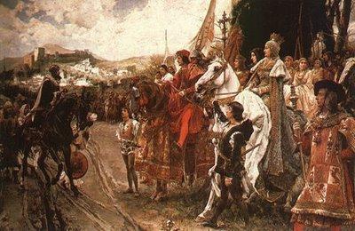 Rendición de la ciudad de Granada por parte de los Reyes Católicos en 1492