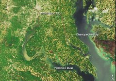 SPACE VIEW OF SOUTHERN MARYLAND