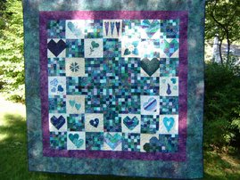 Cool Hearts Quilt