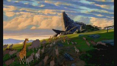 Une idée du lieu où se déroule l'action : le Roi Lion fut une source d'inspiration