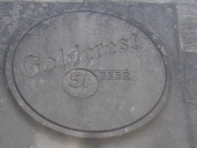 Goldcrest 51 Beer Logo, Goldcrest Brewery, Butler Street, Memphis