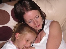 Me and Youngest having a Snuggle