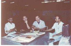 André Cruchaga, Gabriel Otero, Caralvá y Javier Alas