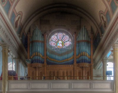 Saint Francis Borgia Church in Washington, MIssouri - pipe organ