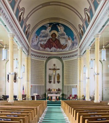 Saint Francis Borgia Church in Washington, MIssouri - nave