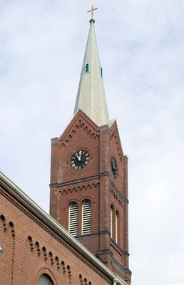 Saint Francis Borgia Church in Washington, MIssouri - spire