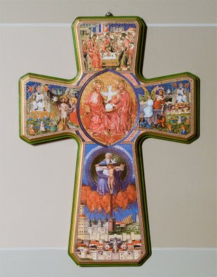 Saint Francis Borgia Church in Washington, MIssouri - illustrated cross