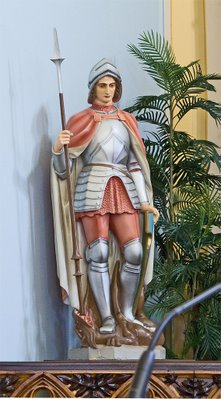 Saint George Catholic Church, in Hermann, Missouri - statue of Saint George