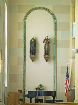 Saint Francis Borgia Church in Washington, MIssouri - statues of saints
