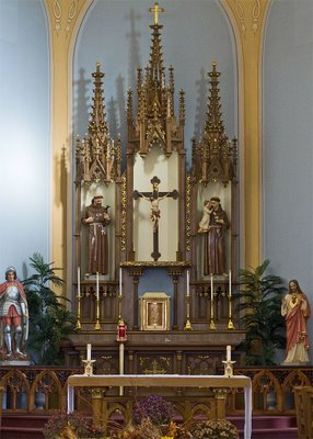 Saint George Catholic Church, in Hermann, Missouri - high altar