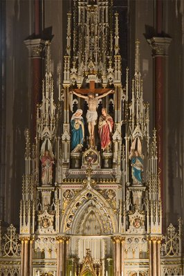 Saint Francis de Sales Oratory, in Saint Louis, Missouri - high altar detail