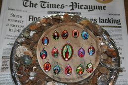 Imported Italian Saint Medallions Hand-Painted in New Orleans, Louisiana