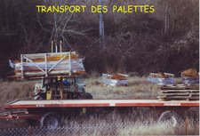 chargement et transport des palettes