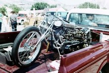 Twin Engine Nostalgia Drag Bike