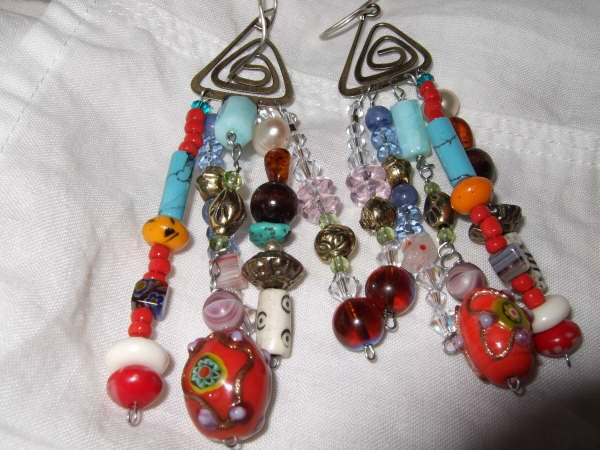 SOLD>>Gypsy Beadz earrings