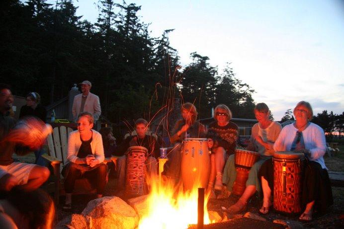 Wedding night campfire