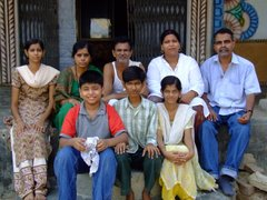 Vinayak Rao Tope & his family