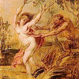 Syrinx, a ninfa de Arcádia.