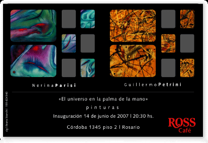 Invitación a muestra de pinturas