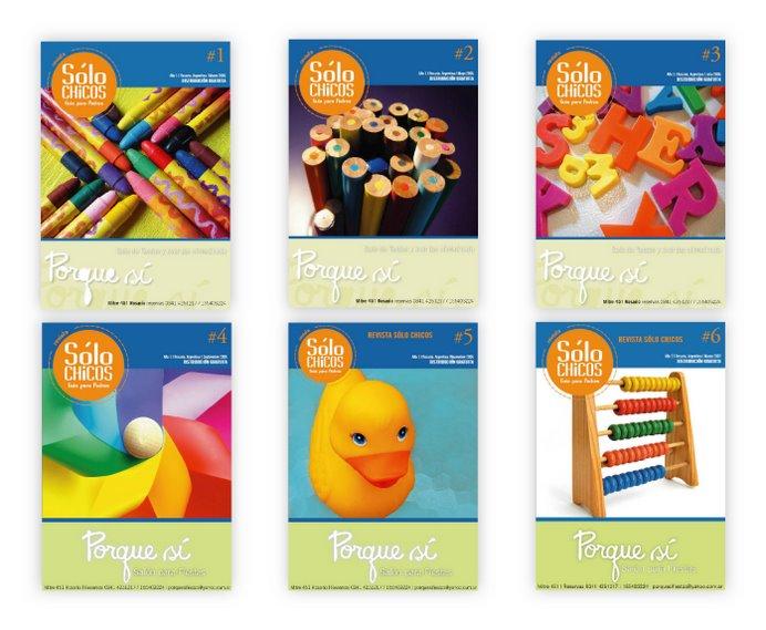 Diseño y diagramación | Revista Solo Chicos - Guía para padres