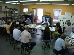 Curso de Collagraf en el Centro Cultural F.Garcia Lorca en Rivas Vaciamadrid.Julio 2007
