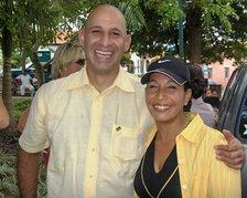 Junto a la concejal de Sucre Flavia Martineau