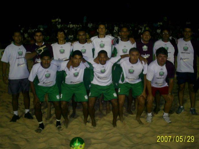 CIRCUITO NORDESTE DE BEACH SOCCER 2007 - EQUIPES PARTICIPANTES