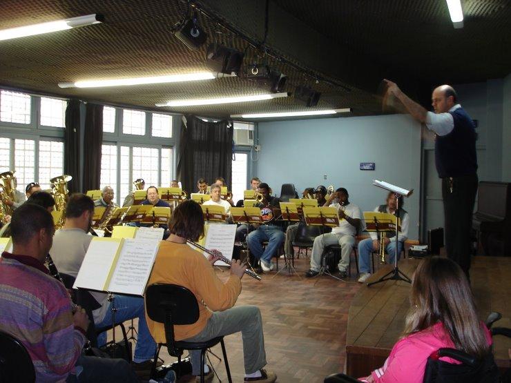 Visita ao ensaio da Banda Municipal de Porto Alegre 2006