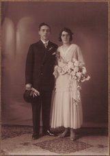 Huwelijksfoto Opa en Oma