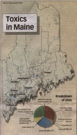Map of Toxics in Maine
