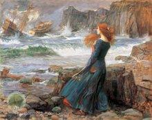 Miranda - The Tempest (John W. Waterhouse, 1916)