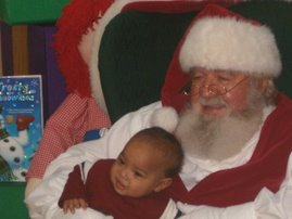 Jordan with Santa