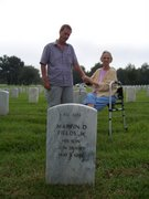 Visiting the cemetery, where Grandaddy & her son Marvin are buried