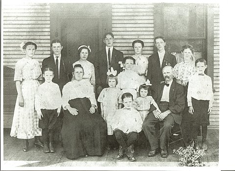 My Great-Grandparents Mayer and their 13 children circa 1910