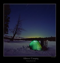 Winter Camping Star Trails