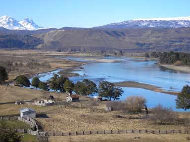 parte de Aysén que se podria inundar
