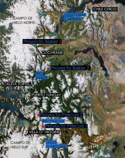Proyecto 4 Centrales Foto: Google Earth intervenida por A León