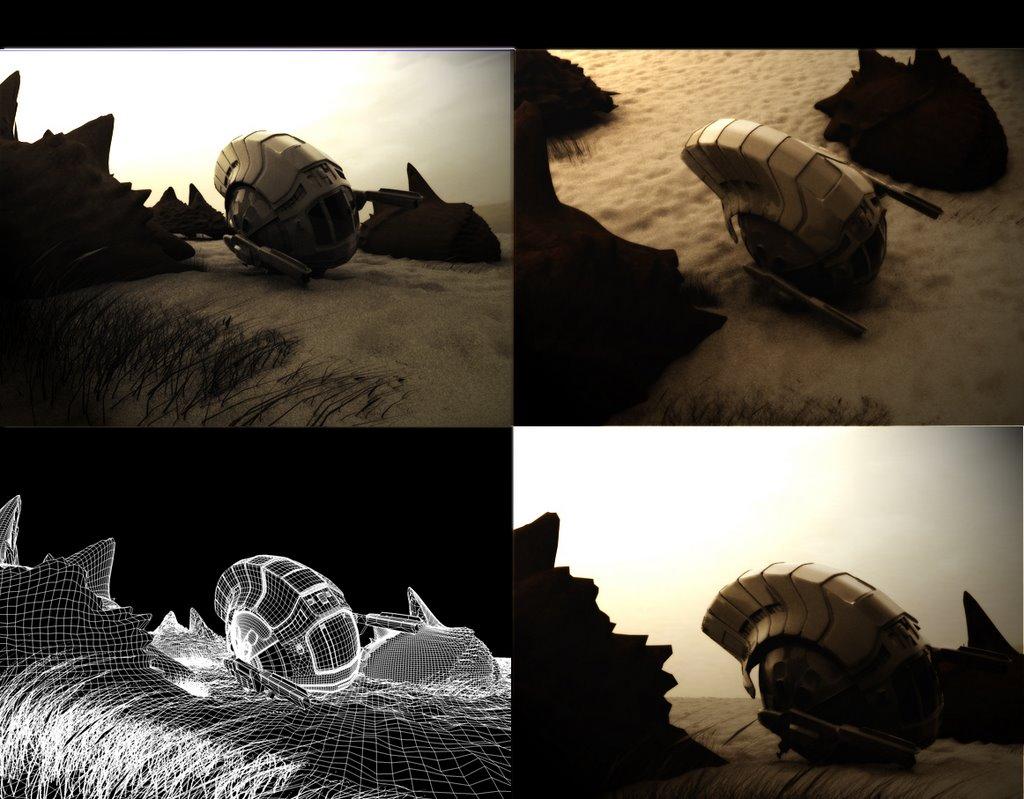 vaisseau dans desert