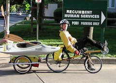 Kayak on bike Trailer
