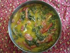 Subji de Espinacas y Tomates