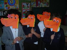 Caretas de dinosaurios
