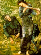 The Beguiling of Merlin by Sir Edward Coley Burne-Jones, 1873-4